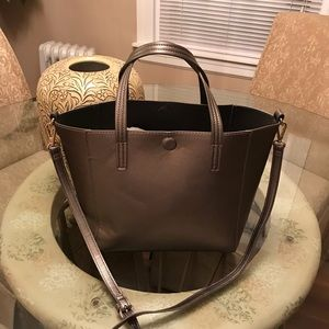 Handbags - Grey Pewter Tote/ Crossbody Bag. Nice!